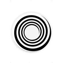 Black & White Spiral Contact Lenses -