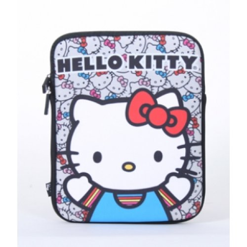 iPad Case - Hello Kitty - Sanrio Cat Face Colored Bow Sleeve Licensed sanip0018