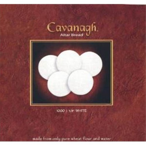 Cavanagh 128758 Commun White Wafers Cross Design 1.37 In. Box Of 1000