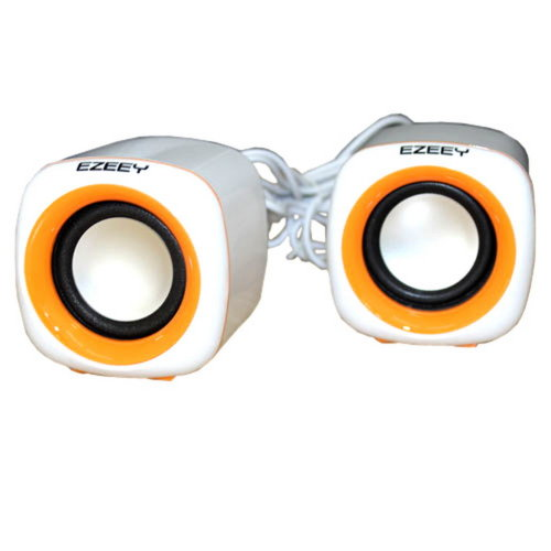 USB Powered Stereo Computer Speakers Superior Bass Orange (A1)