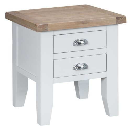 Suffolk White Painted Oak Lamp Table