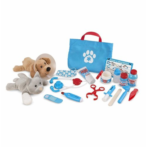 Melissa & Doug 18520 (24 pcs) Examine and Treat Pet Vet Play Set