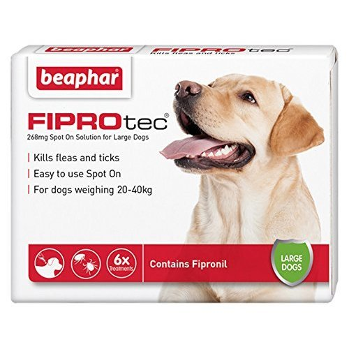 Beaphar FIPROtec for Large Dogs, 6 pipettes