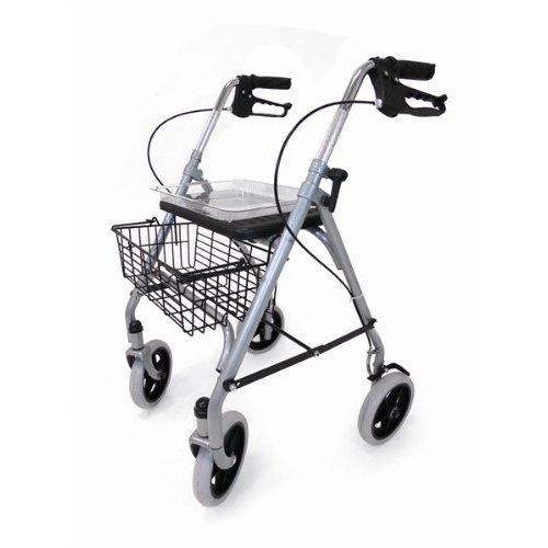 Drive DeVilbiss Healthcare SR8 Steel Rollator with Underseat Basket / Cane Holder / Tray