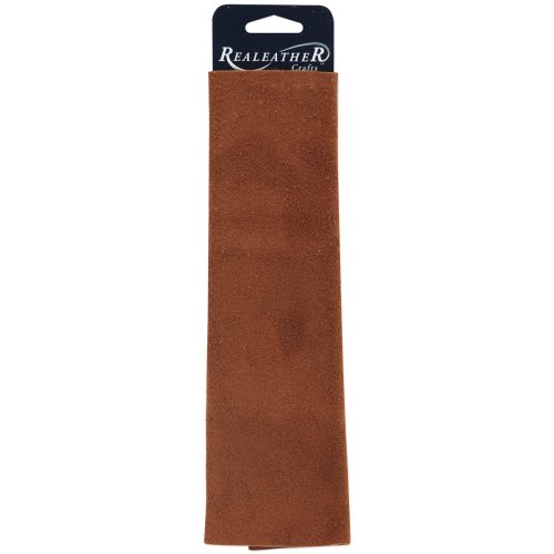 """Realeather Crafts Suede Trim Piece 8.5""""X11""""-Medium Brown"""