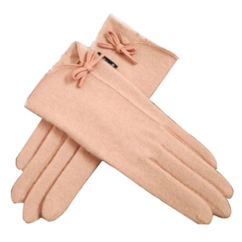 Touch Screen Gloves Wool Gloves Autumn And Winter Keep Warm Pink