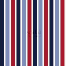 wallpaper stripes navy blue and red - 115816
