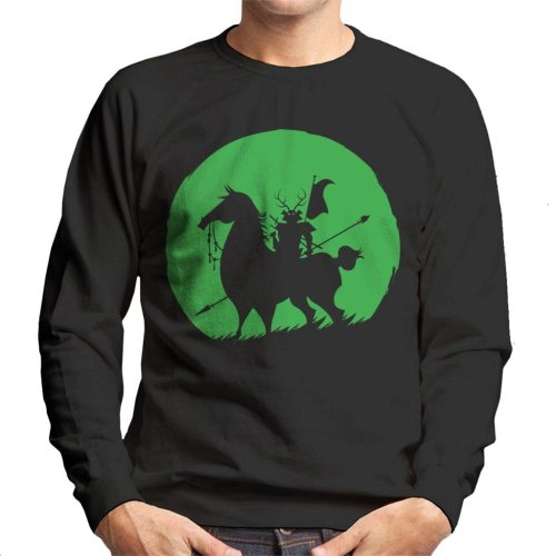 Shadow Warrior Green Silhouette Samurai Jack Men's Sweatshirt