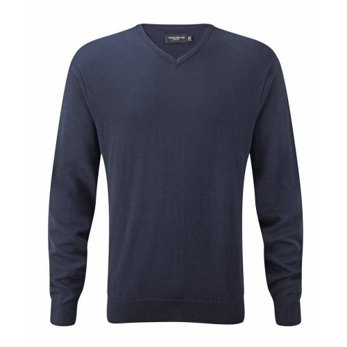 Russell Collection Mens Knitted Crew Neck Pullover