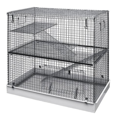 Lazy Bones 2-Tier Rodent Cage | 2-Storey Rat Cage