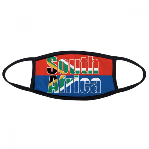 South Africa Country Flag Name Mouth Face Anti-dust Mask Anti Cold Warm Washable Cotton Gift