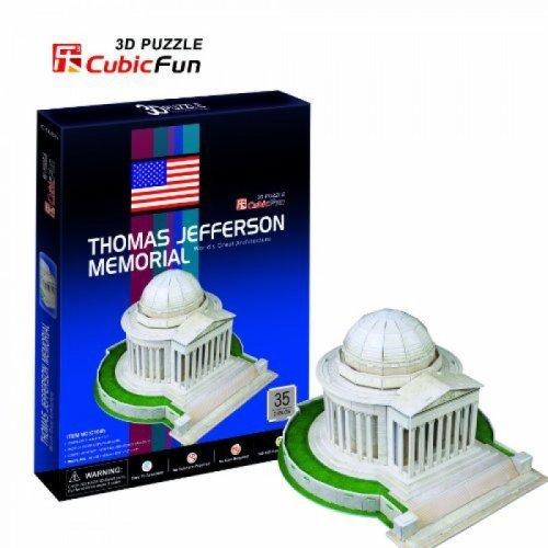 3D Puzzle - Thomas Jefferson Memorial (Difficulty: 4/8)