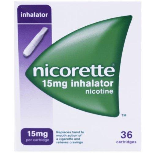 Nicorette 15mg Inhalator Nicotine 36 Cartridges