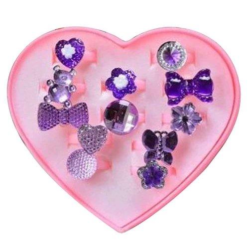 Shiny Plastic Girls Toy Rings, Princess Dress Up [Purple]
