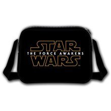 Star Wars VII The Force Awakens Main Logo Messenger Bag, Black (Model No. CD106STW-MB)