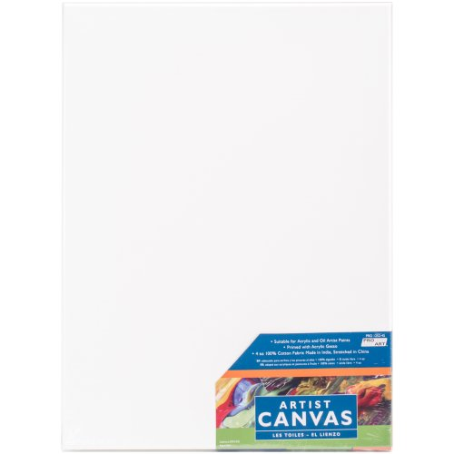 """Pro Art Stretched Artist Canvas Twin Pack 2/Pkg-12""""X16"""""""
