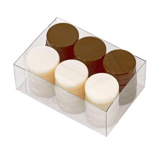 Deluxe Backgammon Stones Brown & Ivory 26mm