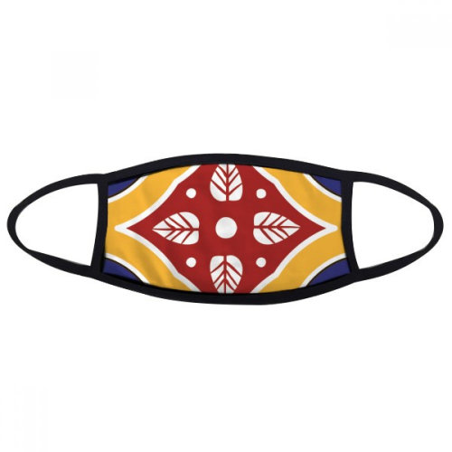 Talavera Style Decorative Pattern Mouth Face Anti-dust Mask Anti Cold Warm Washable Cotton Gift