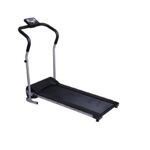 Homcom Adjustable Electric Folding Treadmill Steel Frame Black & Grey
