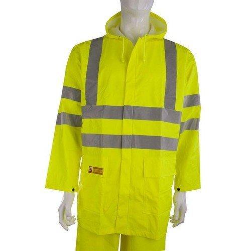 Click CFRLR55SYM Flame Retardant Anti Static Jacket Hi Vis Yellow Medium