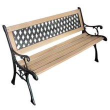 vidaXL Garden Bench with Diamond-Patterned Backrest Nostalgic