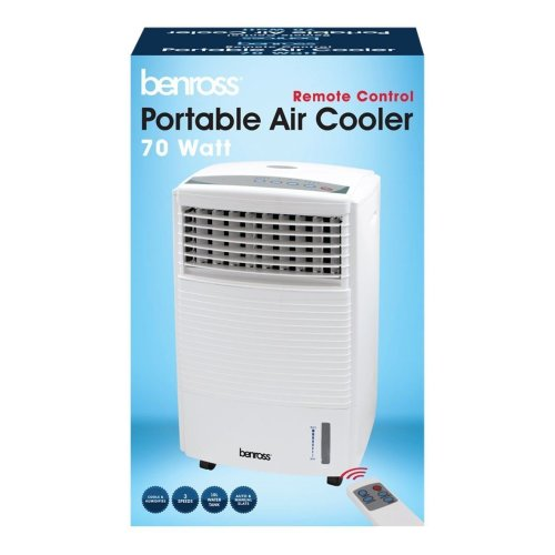 Benross Portable Air Cooler Unit with Flow Swing/Timer Function & Remote Control