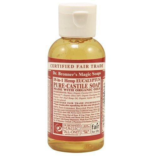 Dr Bronner Org Eucalyptus Castile Liquid Soap 60ml