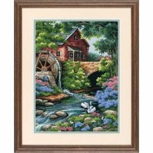 D02484 - Dimensions Needlepoint Kit - Old Mill Cottage