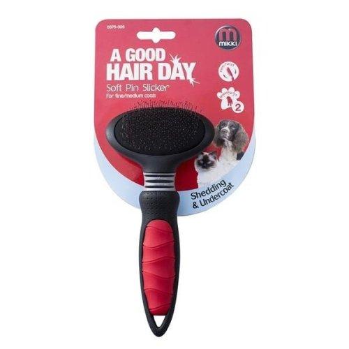 Mikki Soft Pin Slicker Dog Grooming Brush