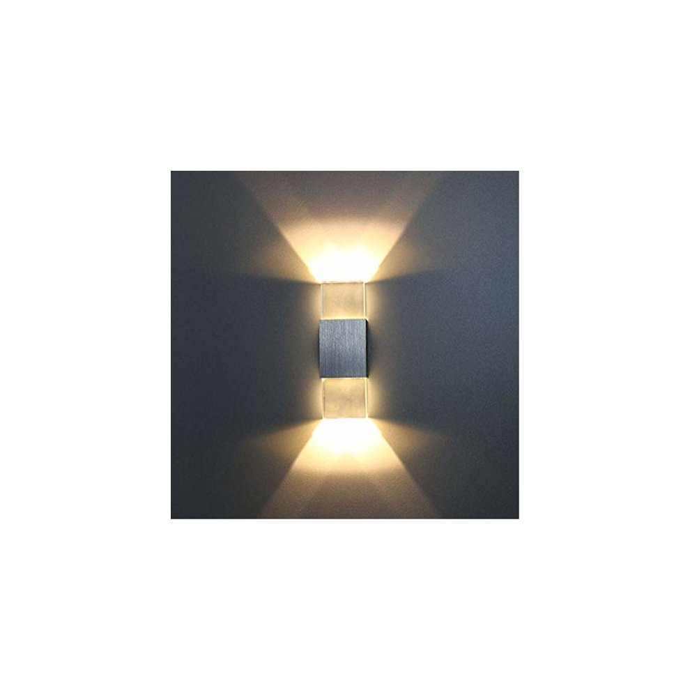 c22043e0a924 ... Unimall LED Beside Wall Sconce Lamp Up and Down 6W Indoor Wall Lights  for Bedrooms Living. >