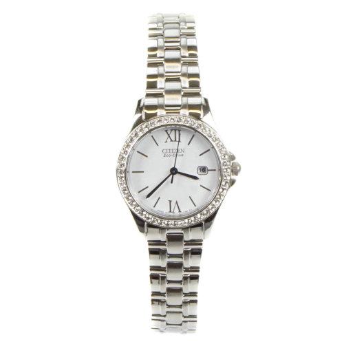 Citizen Eco-Drive Silver Ladies Watch EW 1840-51B