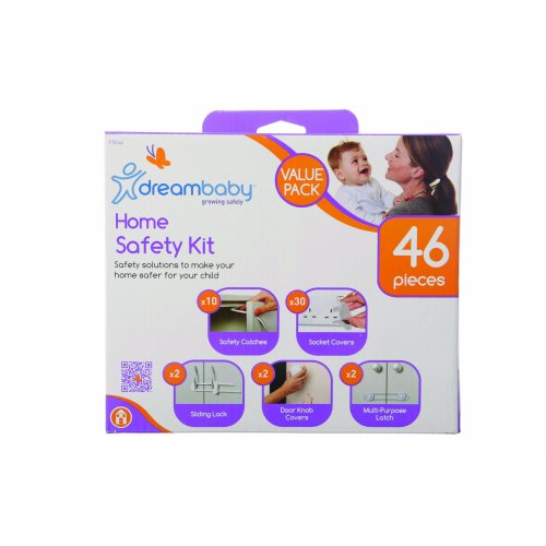 Dreambaby Home Safety Kit Value Pack (White, 46 Pieces)