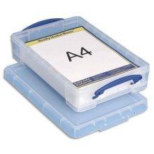 Really Useful Clear Plastic Storage Box 4 Litre