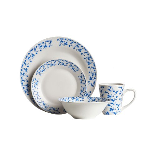 Blue Rose 16Pc Dinner Set