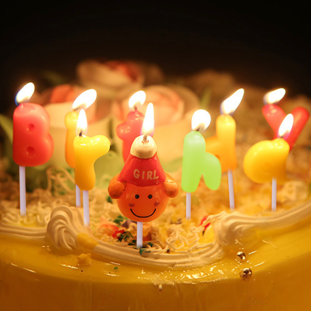 TRIXES Multi Coloured Girl Novelty Birthday Cake Candles