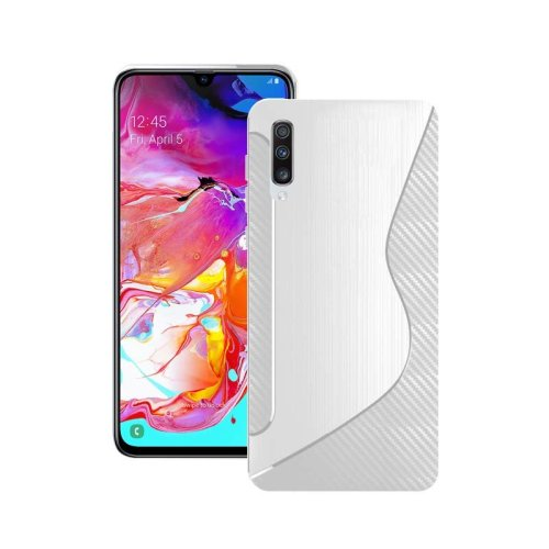 For Samsung Galaxy A70 2019 Silicone S-Line Gel TPU In Transparent Case Cover