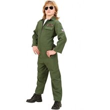 Heavy Fabric Fighter Jet Pilot (158cm) (jumpsuit) -  jet fancy dress costume pilot fighter 158cm childrens outfit kids air force flying military ace