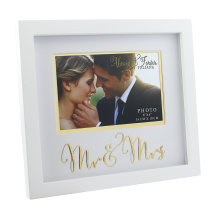 Always And Forever MDF Frame With Gold Words Mr. And Mrs. 6x4