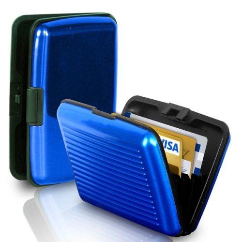 Aluminium Credit Card Business Card Holder - Blue