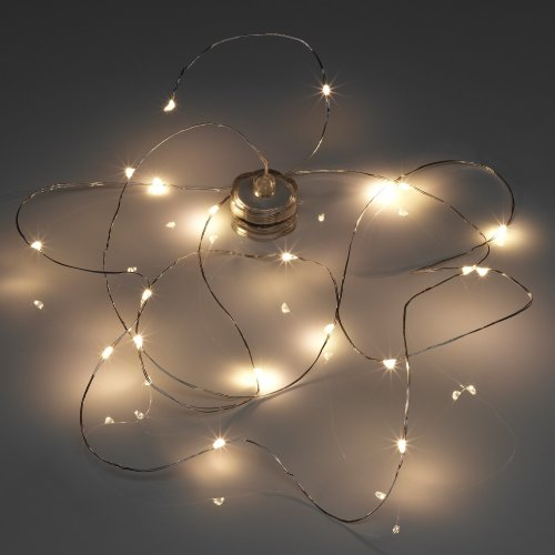 Auraglow 2m Battery Operated Submersible Waterproof 20 LED String Wire Fairy Lights