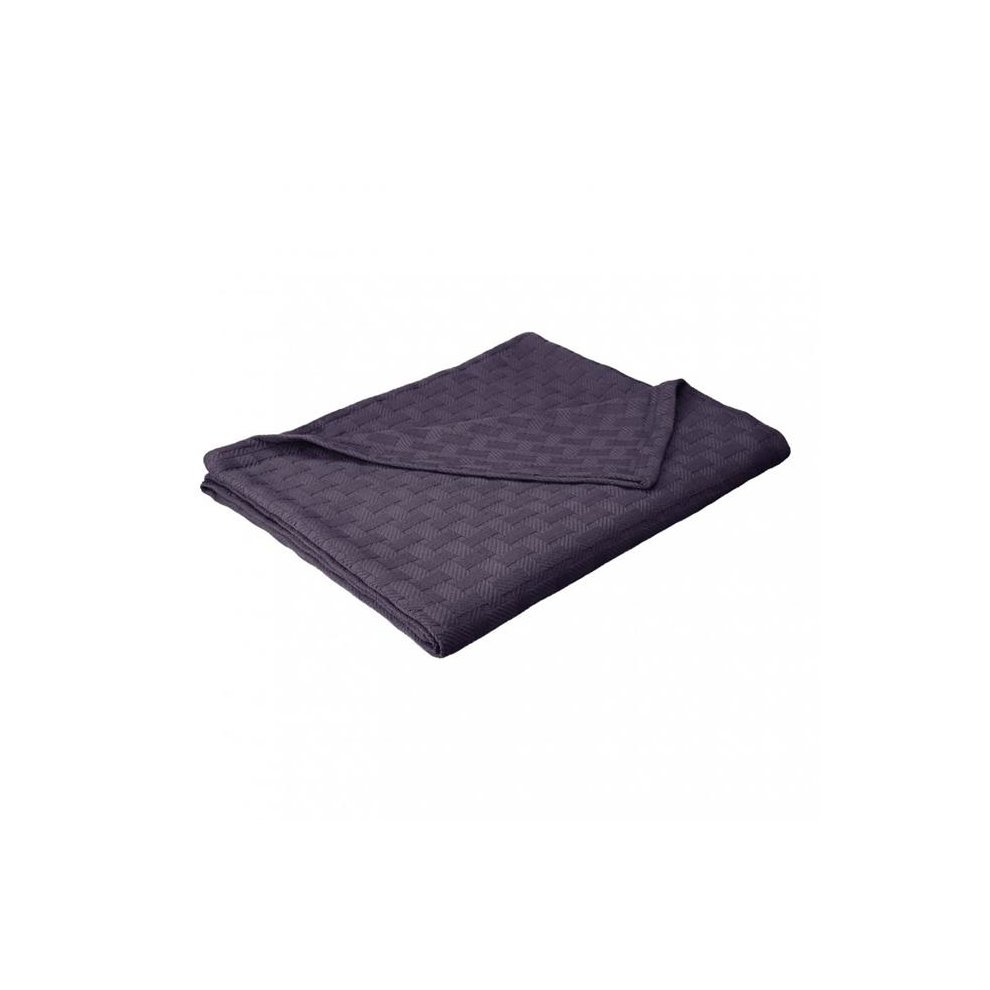 mieux aimé 1a411 19865 Impressions BLANKET-BAS TW NB Twin & Twin Cotton Blanket, Basket Weave,  Extra Large - Navy Blue