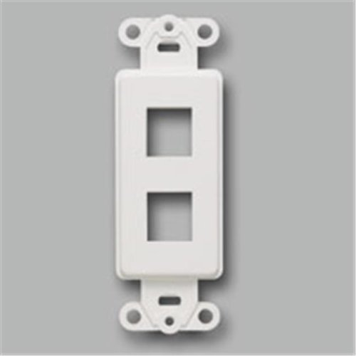 Cables To Go 03720 DECORATIVE 2-PORT MULTIMEDIA KEYSTONE INSERT - IVORY
