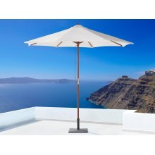 Wooden Market Umbrella - Parasol Garden & Patio - TOSCANA Off-White