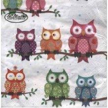 4 x Paper Napkins- Owls -Ideal for Decoupage / Napkin Art
