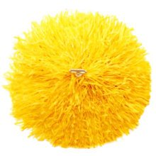 2 of Yellow Team Sports Cheerleading Poms Match Pom Plastic Ring