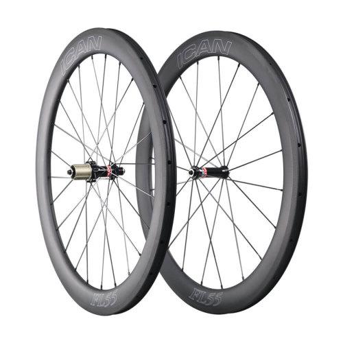 ICAN FL55 Carbon Clincher Road Bike Wheelset