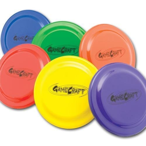 Plastic Flying Discs (Set of 6), 9-Inch