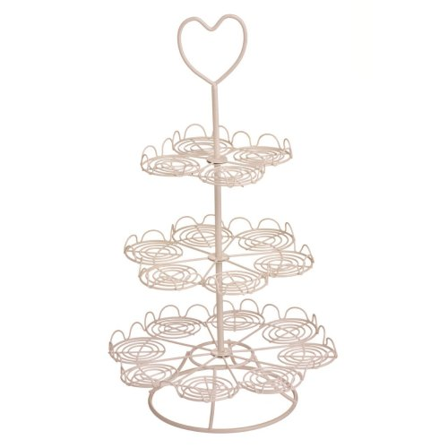 3-Tier Cupcake Stand - Cream