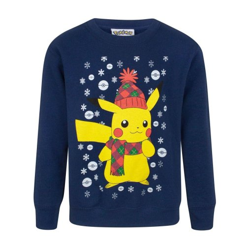 Pokemon Childrens/Kids Pikachu Christmas Sweatshirt