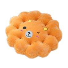 Cute Plush Seat Cushions Extra Soft Back Chair Pad  for Kitchen Office Car?Brown Cute Bear